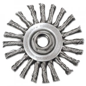 "Anderson Stringer-Bead Twist-Knot Wheel, 4"" dia, 1"" Trim, .20 Wire, 5/8"" Arbor ANB12575 066-12575"