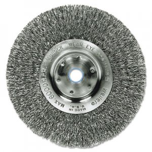 "Weiler Trulock TLN4 Narrow-Face Crimped Wire Wheel, Stainless Steel, 4"" dia, .0118 Wire WEI00184 804-00184"