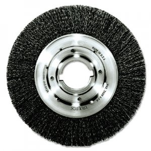 "Weiler Trulock TLM-10 Narrow-Face Crimped Wire Wheel, 10"" dia, .014 Wire, Arbor Dia: 2"" WEI06160 06160"