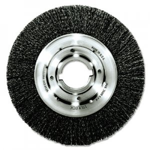 "Weiler Trulock TLN-8 Narrow-Face Crimped Wire Wheel, 8"" dia, .014 Wire, Arbor Dia: 2"" WEI06120 06120"