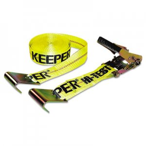 Keeper Ratchet Tie-Down Strap, 2in x 27ft, 10000lb Cap, Flat Hook Ends KPR04623 130-04623