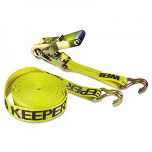 Keeper Ratchet Tie-Down Strap, 2in x 27ft, 10000lb Cap, Double-J Hook Ends KPR04622 130-04622