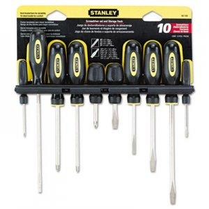 Stanley Tools 10-Piece Standard Fluted Screwdriver Set, Phillips/Slotted BOS60100 680-60-100