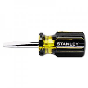 "Stanley Tools 100 Plus Round Blade Standard Tip Screwdriver, 1/4"", 3-1/2"" Long BOS66161 680-66-161"