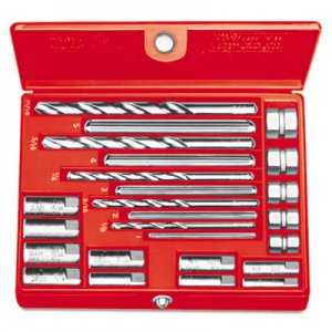 RIDGID No. 10 Screw Extractor Set, 20-Piece, Spiral-Flute RID35585 35585