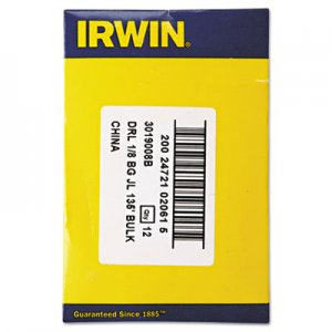 "IRWIN Black and Gold HSS Fractional Drill Bit, 1/8"", 135 Degrees IRW3019008B 585-3019008B"