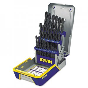 IRWIN 29-Piece Black Oxide Industrial Drill Bit Set, w/Case IRW3018004 3018004
