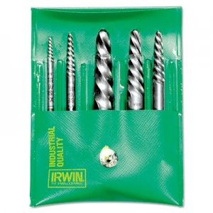 IRWIN Spiral-Flute Extractor, Five-Piece Set, EX-1 To EX-5 HNS53535 585-53535