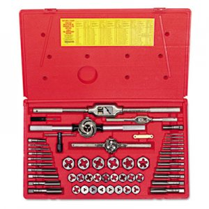 IRWIN HANSON Tap & Die Set, Steel, 53 Pieces HNS26394 26394