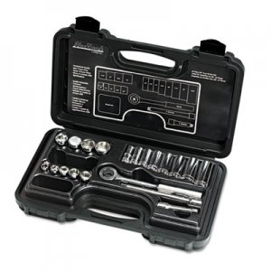 "Blackhawk 20-Piece Mechanic's Tool Set, SAE, 3/8""-Drive, Deep/Standard, 12-Point BCK3820S 3820-S"