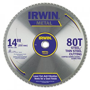 IRWIN 80T Metal Cutting Ferrous Steel Circular Saw Blade, 14in IRW4935559 4935559