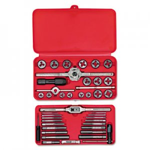 IRWIN SAE Machine-Screw/Fractional Tap & Die Set, 41-Piece HNS24606 24606