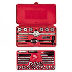 IRWIN HANSON Tap & Die Set, Steel, 39 Pieces HNS23614 585-23614