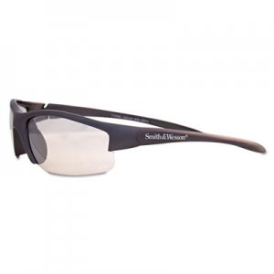 Smith & Wesson Equalizer Safety Glasses, Gun Metal Frame, Clear Lens SMW21294 624-21294