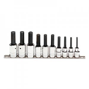 "Proto 10-Piece Hex-Bit Socket Set, Metric, 1/2"" Drive, 6mm to 19mm PTO5441MA 577-5441-MA"