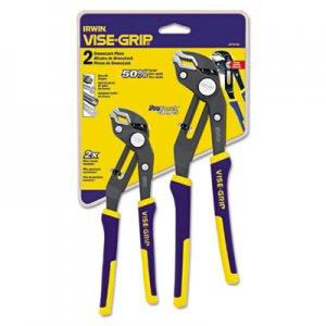 "IRWIN Two-Piece Groovelock Pliers Set, 8"" and 10"" VSE2078709 586-2078709"