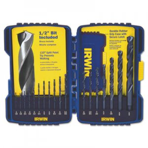 IRWIN 15-Piece Cobalt HSS Fractional Drill Bit Set IRW316015 585-316015