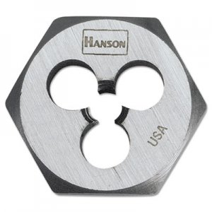 "IRWIN 3/8""-16 High-Carbon Steel Hex agon Die 1"" Diameter HNS6534 26376"