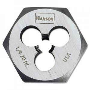 "IRWIN High-Carbon Steel Fractional Hexagon Die, 1/4""-20, 1"" Diameter HNS6520 585-6520"