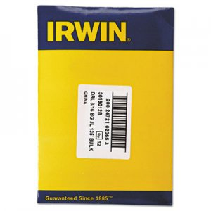 "IRWIN Black and Gold HSS Fractional Drill Bit, 3/16"", 135 Degrees IRW3019012B 585-3019012B"