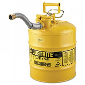 "JUSTRITE AccuFlow Safety Can, Type II, 5gal, Yellow, 1"" Hose JUS7250230 400-7250230"