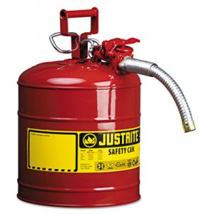 "JUSTRITE AccuFlow Safety Can, Type II, 5gal, Red, 1"" Hose JUS7250130 400-7250130"