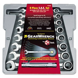 "GearWrench GearWrench 8-Piece Ratcheting-Box Combo Wrench Set, SAE, 5/16"" to 3/4"", 12-Pt Bx GRW9308 9308"
