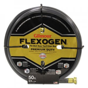 Gilmour Eight-Ply Flexogen 10 Series Garden Hose, 3/4in x 50ft, Gray GLM10034050 10-34050