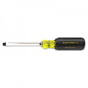 "Klein Tools Heavy-Duty Slotted Keystone-Tip Cushion-Grip Screwdriver, 4"" Long KLN6004 409-600-4"