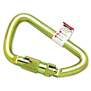 Miller by Honeywell Twist-Lock Carabiner, 1 Spring-Loaded Gate, 4 1/2 x 2 3/4 MFL17D1 493-17D