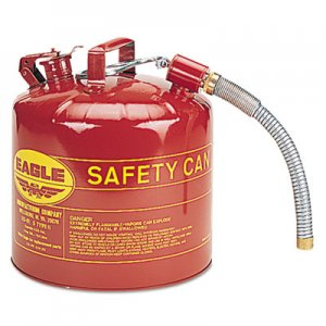 Eagle Type II Safety Can, 5 Gallon, Red, Metal Spout EGLU251S U2-51-S