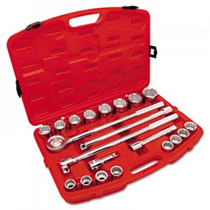 "Crescent 21-Piece Mechanic's Tool Set, SAE, 3/4"" Drive, 7/8"" to 2"", 12-Point Sockets CHTCTK21SAE CTK21SAE"