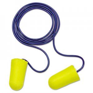 3M E  A  R TaperFit 2 Single-Use Earplgs, Corded, 32NRR, Yellow/Blue, 200 Pairs MMM3121223 312-1223
