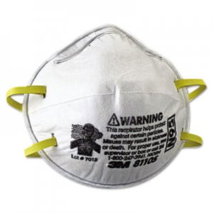 3M N95 Particulate Respirator, Half Facepiece, Small, Fixed Strap MMM8110S 142-8110S