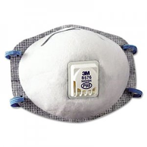 3M N95 Particulate Respirator, Half Facepiece, Oil Resistant, Fixed Strap MMM8576 8576