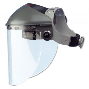 "Fibre-Metal by Honeywell High Performance Face Shield Assembly, 4"" Crown Ratchet, Noryl, Gray FBRF400 280-F400"