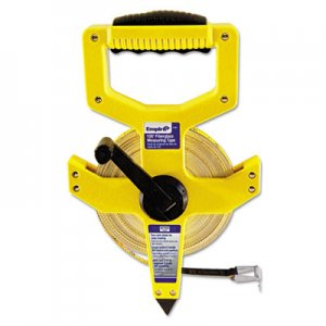 "Empire Open-Reel Fiberglass Measuring Tape,1/2""x100ft, Yellow/White Blade, Yellow Case EML6799 272-6799"