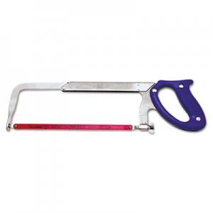"Nicholson Heavy-Duty Hacksaw Frame, 10"" to 12"" Blade, Steel Frame, Blue Plastic Handle NCH80952 183-80952"