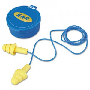 3M E  A  R UltraFit Multi-Use Earplugs, Corded, 25NRR, Yellow/Blue, 50 Pairs MMM3404002 340-4002