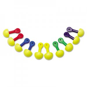 3M E  A  R Express Asst Colored-Grip Pod Plugs, Cordless, 25NRR, YW/Asst, 100 Pairs MMM3212200 321-2200