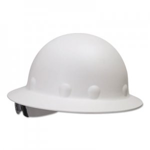 Fibre-Metal by Honeywell E-1 Full Brim Hard Hat With Ratchet Suspension, White FBRE1RW01A000 E1RW01A000