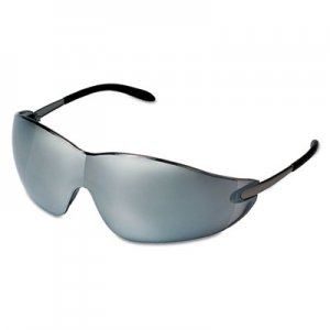 MCR Safety Blackjack Protective Eyewear, Chrome Frame, Silver-Mirror Lens CRWS2117 S2117