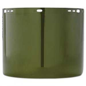 "Jackson Safety Face Shield Window, 15 1/2"" x 8"", Polycarbonate, Green, Unbound KCC26262 26262"