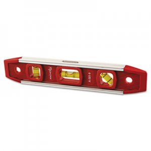 "Anchor Brand Magnetic Torpedo Level, 9"" Long, Aluminum, Tri-Vial ANRA5819 100-A581-9"
