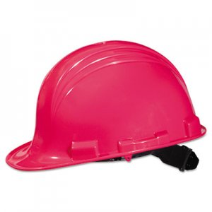 North Safety A-Safe Peak Hard Hat, Hot Pink, 4-Point Suspension NSPA79200000 068-A79200000
