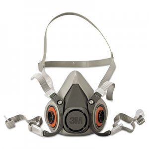 3M Half Facepiece Respirator 6000 Series, Reusable, Medium MMM6200 142-6200