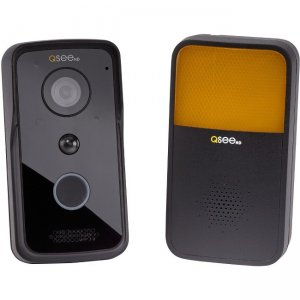 Q-see Wi-Fi Doorbell Camera & Chime - Black QCW1000BC