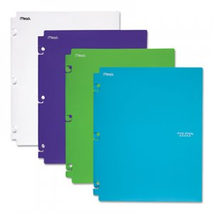 Five Star Snap-In Plastic Folder, 20 Sheets, 8 1/2 x 11, Assorted, Snap Closure, 2/Set MEA73264 73264