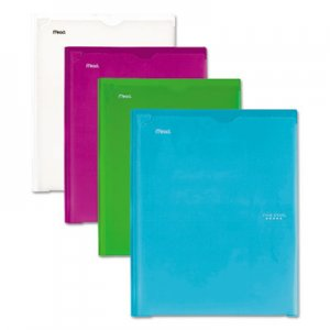 Five Star Customizable Pocket/Prong Plastic Folder, 20 Sheets, 8 1/2 x 11, Assorted, 4/Set MEA38130 38130