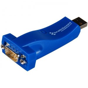 Brainboxes 1 Port RS232 USB to Serial Adapter US-101-X100C